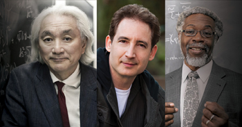 <strong>Paramount Science Summit<br><small> with Dr. Michio Kaku, Dr. Brian Greene and Dr. S. James Gates</small></strong>