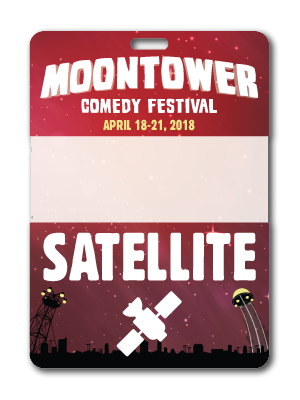 Moontower Comedy Festival Satellite Badge