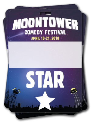 Moontower Comedy Festival Star Badges