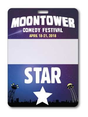 Moontower Comedy Festival Star Badge