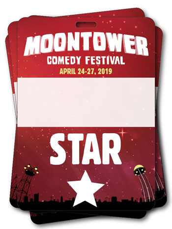 2019 Moontower Comedy Festival Star Badges