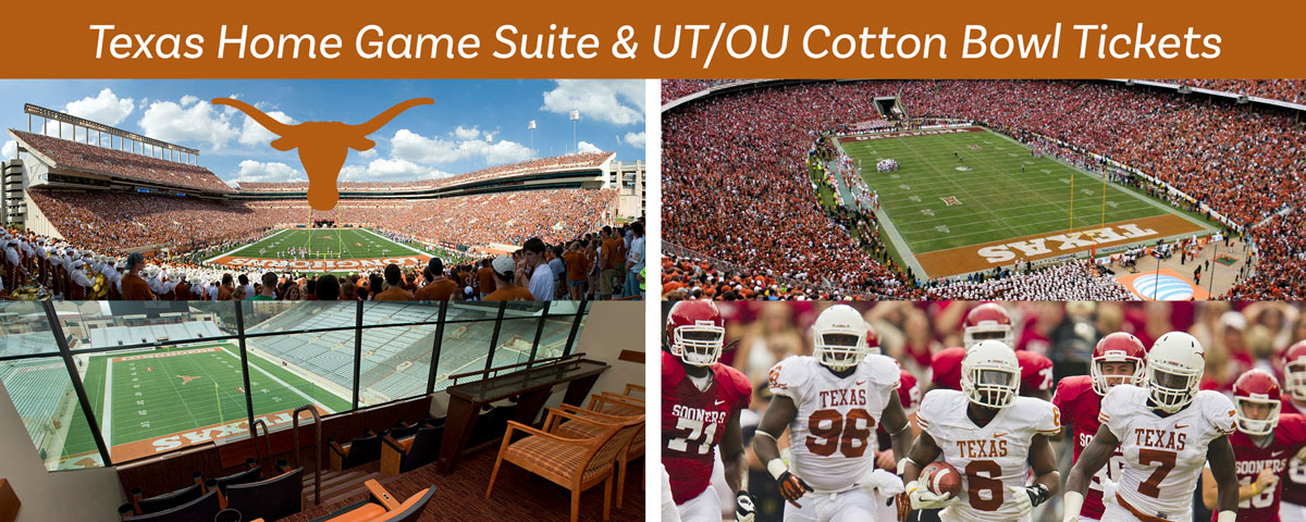 Texas Home Game Suite & TX/OU Cotton Bowl Tickets