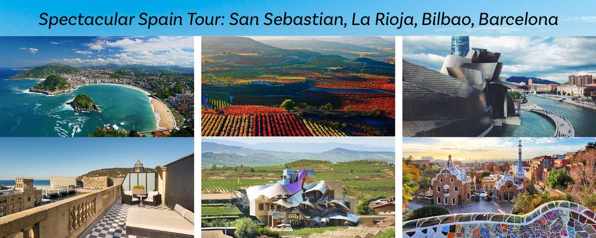 Spectacular Spain Tour: San Sebastian, La Rioja, Bilbao, Barcelona