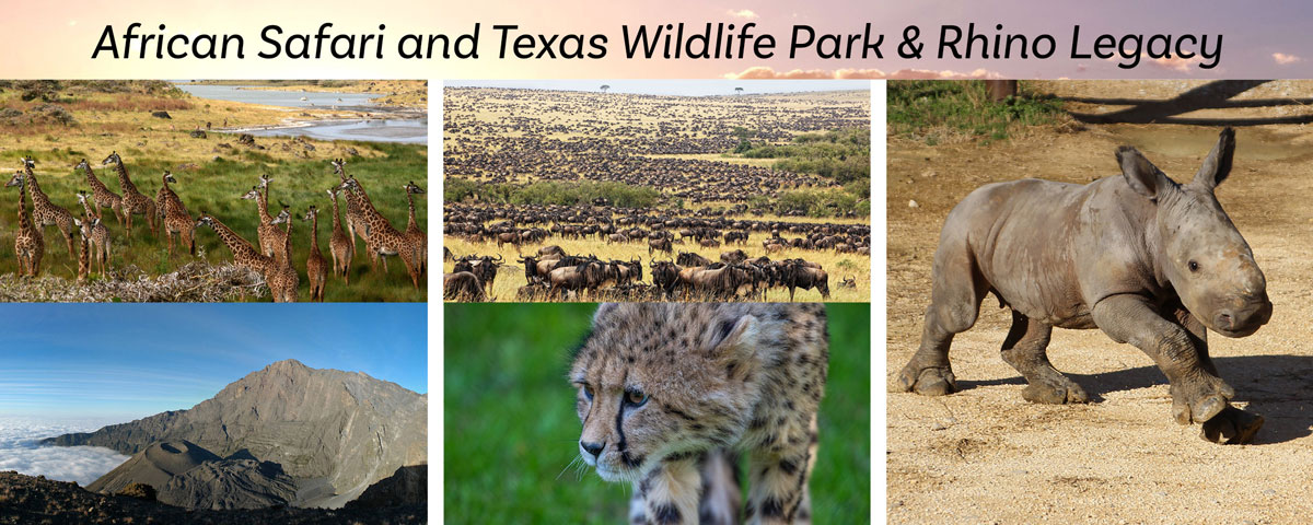 African Safari and Texas Wildlife Park & Rhino Legacy