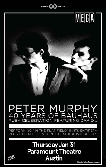 <b>Peter Murphy 40 Years of Bauhaus</b>