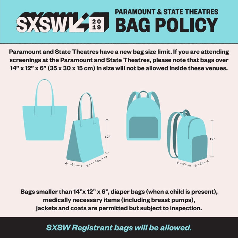 SXSW Bag Policy