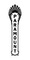 Paramount Theatre blade logo - black
