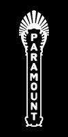 Paramount Theatre blade logo - white