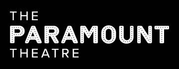 Paramount Theatre logo - white