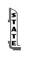 Stateside blade logo - black