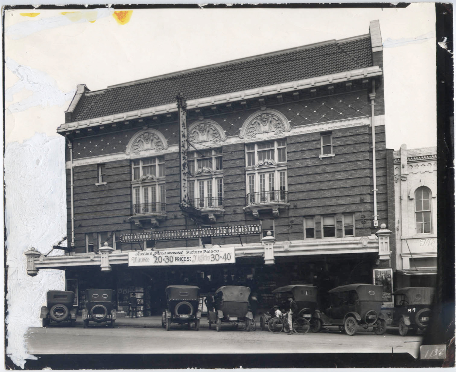 1915 Majestic Theatre Austin 20 cents on marquee